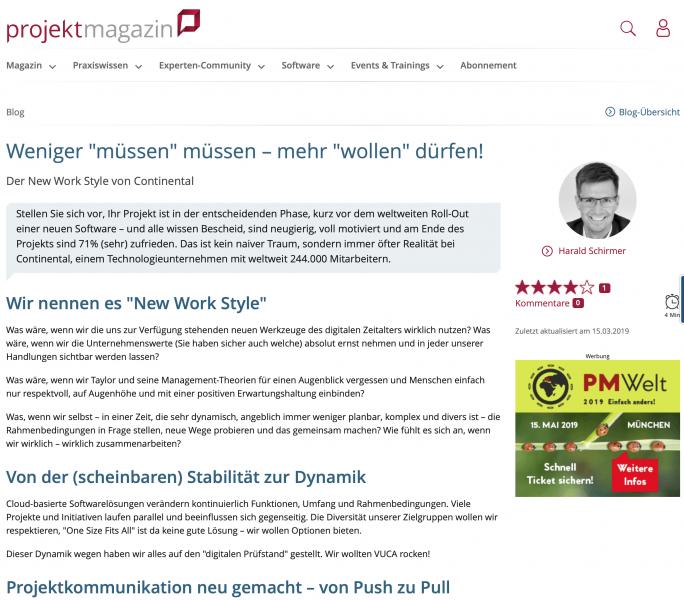 ProjektMagazin Screenshot Interview Harald Schirmer - Weniger müssen müssen!