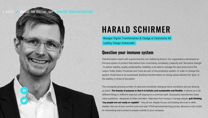 Harald Schirmer about Digital Transformation