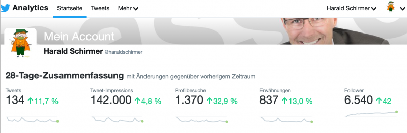 Twitter Statistik Harald Schirmer