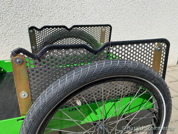 Fahrradanhänger Radschutz