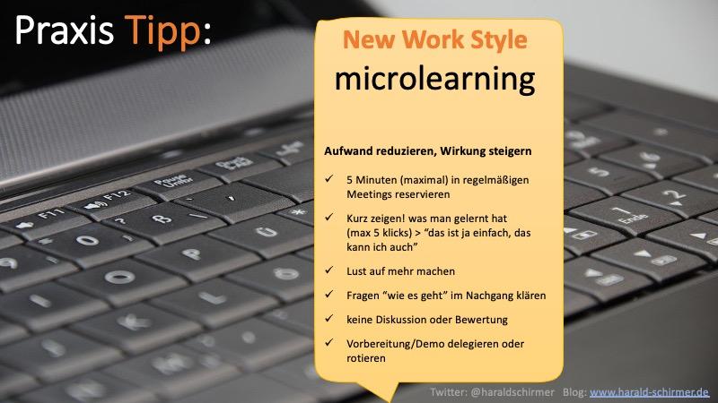 Praxis Tipp: Microlearning - 5 Minuten in regelmäßigen Terminen für Lernen einplanen
